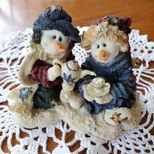 Boyds Bears Holiday - Boyd's Bear Resin Winter Snowmen 36503